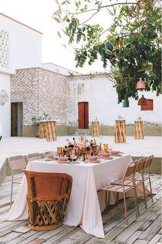 wedding reception decor Wedding Ceremony Backdrop, Wedding Reception Decorations, Wedding Centerpieces, Reception Ideas, Mexican Wedding Reception, Handmade Invitations, Wedding Altars, Modern Romance, Papel Picado