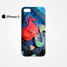 The Little Mermaid With Fish Ariel for Iphone 4/4S Iphone 5/5S/5C Iphone 6/6S/6S Plus/6 Plus 3D Phone case