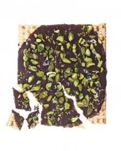 Passover Desserts // Pistachio, Honey and Sea Salt Matzo Recipe