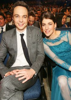 People's Choice Awards 2014 Jim Parsons and Mayim Bialik