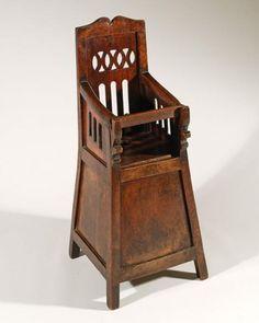 18th Century Walnut High Chair