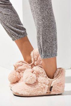 MUK LUKS Fuzzy Amira Slipper