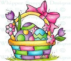 Lil Easter Basket - Easter - Holidays - Rubber Stamps - Shop
