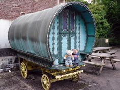 Littledean Jail | The boys have found a gypsy caravan to pla… | Wendy Harris | Flickr