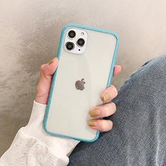 Candy Color Edge Soft Acrylic Clear Back for iPhone 11 series Buy New Iphone, Iphone 7, Apple Iphone, Iphone Cases, Free Iphone, Best Iphone Covers, Pro Mac, Jelly Case, Accessoires Iphone