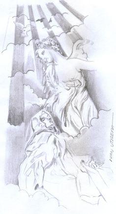 santa teresa de jesus a lapiz