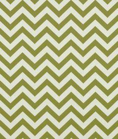 Premier Prints Zig Zag Village Green/Natural Fabric  9.98