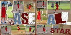 map scrapbook layouts | Cole's Baseball - Digital Scrapbook Place Gallery