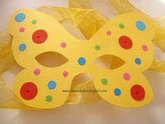 Maschera di carnevale fai da te: la Farfalla