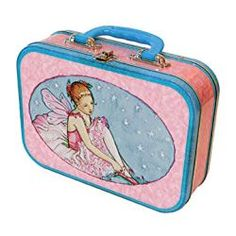 Ballerina Lunch Box - Tin lunchbox with Ballerina Fairy designs. Fun to use as a lunchbox or simply for playing around the house, even for keeping art supplies and treasure collections. #ballerina #tin #lunchbox