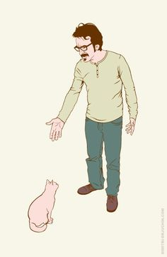 Marc Maron - Cat Negotiation I am stealing Marc's cat wrangler bit and adding it to my CV.