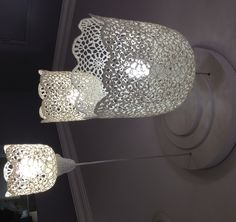 Lampe GOA muno lampe luminaire crochet -- not sure why this one turned sideways on me?