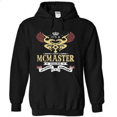its a MCMASTER Thing You Wouldnt Understand  - T Shirt, - #long tee #tee cup. BUY NOW => https://www.sunfrog.com/Names/it-Black-45730297-Hoodie.html?68278