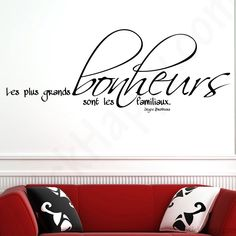 Stickers citation famille : Les plus grands bonheurs sont les bonheurs familiaux de Joyce Brothers - http://www.stickhappy.com/stickers-citation-famille/252-stickers-citation-famille.html