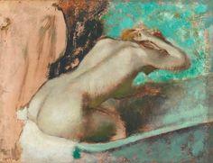 """El Museo de Alberto: """"Mujer sentada en el borde de una bañera y ordenan..."""