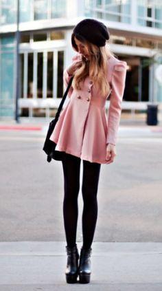 #alice257891 #2dayslook #pink coat #pinkjacket  http://pinterest.com/alice257891