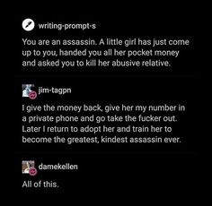 Better: write a story about the girl.