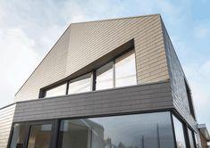Fibre cement slates as vertical cladding