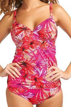 CUBA PAPAYA PLUNGE TANKINI TOP Swimwear