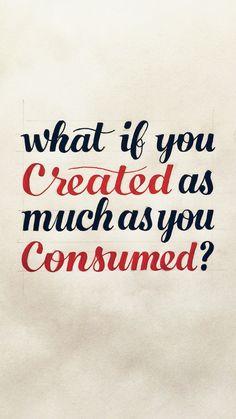 Creator > Consumer iPhone Wallpaper