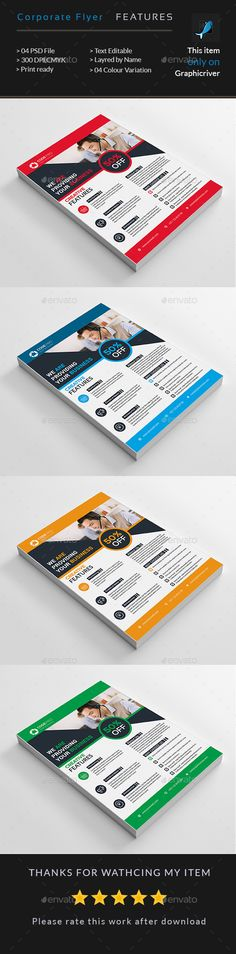 Corporate Business Flyer Template PSD. Download here: http://graphicriver.net/item/corporate-business-flyer/16846590?ref=ksioks