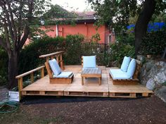 Deck from recycled pallets -still in progess :)