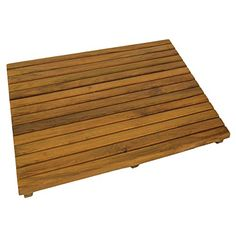 surfstow teak shower mat oiled finish - Teak Shower Mat