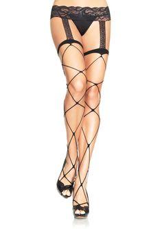 Jumbo net garterbelt stockings 96% NYLON 4%SPANDEX