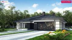 Z378 D to wyjątkowy dom z kategorii projekty domów parterowych Home Building Design, Home Garden Design, Building A House, House Plans Mansion, 4 Bedroom House Plans, Mediterranean Homes, Facade House, Design Case, Modern House Design