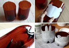 garrafas pet reciclagem  Vasos fofos