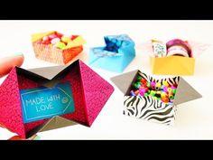 Süße Origami Box zum Aufklappen   Tolle Aufbewahrungskiste einfach falten   Geschenk Idee Nachricht - YouTube
