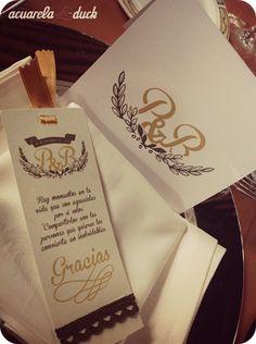 Agradecimiento para bodas. Un marca páginas.