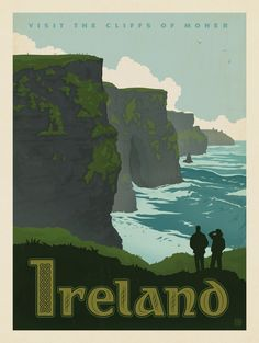 Get your hands on a customizable Ireland Vintage Travel postcard from Zazzle. Find a large selection of sizes and shapes for your postcard needs! Vintage Travel Posters, Vintage Postcards, Retro Posters, Movie Posters, Photo Vintage, Vintage Art, Design Vintage, Vintage Style, Poster Prints