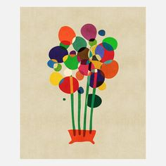 Happy Flowers In A Vase, $49, now featured on Fab., Budi Satria Kwan