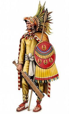 The Eagle Warriors were called cuauhpilli? Not this confirmads that they were a SOCIEDSD warrior. In case they existed, it is not known whether it was above the Cuauhchique or Otontin. This is armed with macuahuitl, Tepoztopolli and Chimalli Illustrations Pop, Soldado Universal, Dark Sun, Aztec Symbols, Aztec Culture, Aztec Warrior, Inka, Aztec Art, Mesoamerican