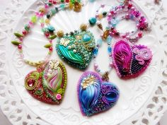 Made to order ShIbori heart customizable choose by mysweetcrochet