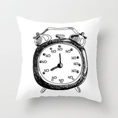 Oh, Look! It's No O'clock - Funny Throw Pillow