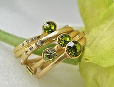 Regina Pierallini Jewelry....  Peridot Green Stacking Rings.  Just got these in the mail...Cute and cool!