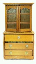 "NEW Vintage Dollhouse Miniature SECRETARY CABINET WITH ""GLASS"" by B. Shackman"