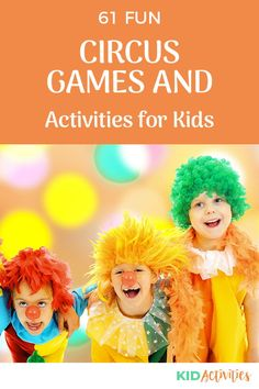 A collection of fun carnival themed games and activities for kids. Great for a carnival theme day or a carnival themed birthday party. #KidActivities #KidGames #ActivitiesForKids #FunForKids #IdeasForKids Outdoor Games For Kids, Fun Games For Kids, Games For Toddlers, Indoor Activities For Kids, Kid Activities, Summer Party Games, Theme Days, Carnival Themes, Kids Party Themes
