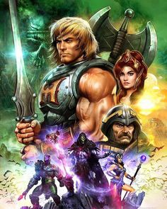 Who doesn't love #heman he is awesome! #vintagecartoons #mastersoftheuniverse by dfasciani