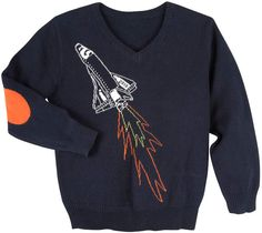 Mission to Mars? For the little Elon Musk's fans! Andy & Evan Spaceship Sweater, Size 3-24 Months #ad