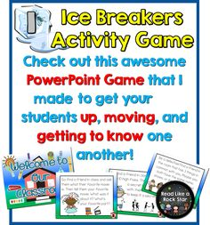 Read Like a Rock Star's 5 Fun Ice Breakers for the First Day of School! Perfect for 1st and 2nd grade!!