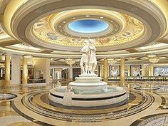 The lobby of Caesar's Palace...my favorite Vegas casino!