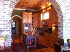 Image detail for -beautiful brick archway leads into a gourmet kitchen