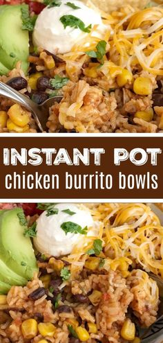 Instant Pot Chicken Burrito Bowls Instant Pot Recipe Chicken Recipes Instant Pot Chicken Recipes Burrito Bowls Instant Pot chicken burrito bowls can be on the dinner. Instant Pot Pressure Cooker, Pressure Cooker Recipes, Slow Cooker, Instant Pot Dinner Recipes, Easy Dinner Recipes, Best Instant Pot Recipe, Instant Recipes, Healthy Chicken Recipes, Recipe Chicken