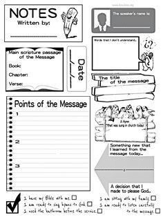Help your kids learn to take notes during church with these sermon sermon notes for kids one of the best ways to help kids retain the information pronofoot35fo Image collections
