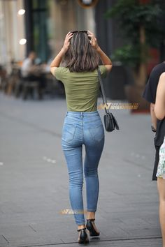 118 catchy summer outfits you cant miss – page 2 Sexy Jeans, Jeans Fit, Jeans Style, Mom Jeans, Skinny Jeans, Chic Outfit, Beste Jeans, Curve Jeans, Tights Outfit