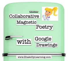 Pinterest Just in time for National Poetry Month: Collaborative Magnetic Poetry with Google Drawings! That's right! I've created a magnetic poetry interactive template with Google Drawings that you and your students can use to get creative during National Poetry Month. You can use this as an independent activity, or take it a step further and …