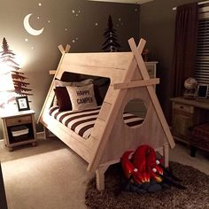 Adorable Camping Themed Room By Maja Bacon Baconbitsinteriors Boys Nursery
